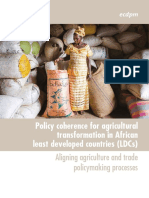 Policy coherence of agricultural