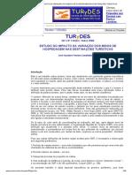 ESTUDO DO IMPACTO DA VARIAÇÃO DOS MEIOS DE HOSPEDAGEM NAS DESTINAÇÕES TURÍSTICAS