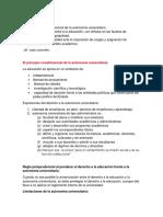 Desarrollo Jurisprudencial Del Derecho a La Educacion y Autonomia Universitaria