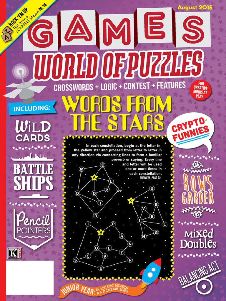 Games World Of Puzzles August 2015 Crossword Leisure