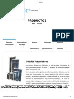 Productos Solartec catalog