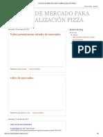 Estudio de Mercado Pizza
