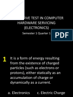 Summative Test in Computer Hardware Servicing