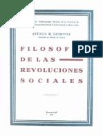 Antonio Grompone - 1932 - Filosofia de Las Revoluciones Sociales