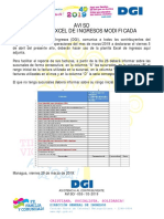 Planilla de Ingresos Modificada DGI