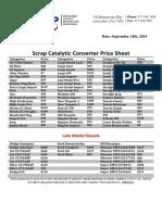 Cadillac converter price list