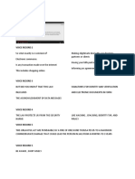 Voice Record Script 1 to 6