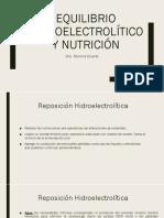 Clase 4- Equilibrio Hidroelectrolítico y Nutrición