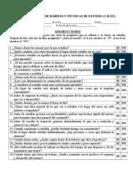 Cuestionario de Hábitos y Técnicas de Estudio