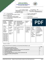 CTE Graduate Tracer Study Questionnaire
