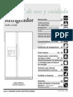 Manual de usuario refrigerador Frigidaire
