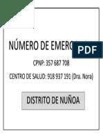 Nro de Emergencia Nuñoa