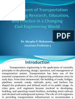 1 Development of Transportation Engineering Research Education