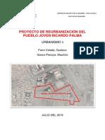 Memoria Descriptiva REURBANIZACION PJ RICARDO PALMA - CHICLAYO