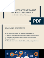 1. Introduction to Media and Information Literacy