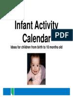 Infant Activity Calendar