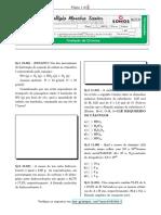 Química - 3º Ano Parcial - 2b