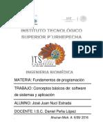 Fundamentos de programacion tarea 1°A IBIO.