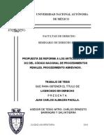 Propuesta de Reforma