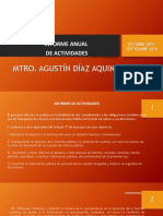 Informe Anual de Comisiones Edilicias Regidor Agustin Diaz Aquino