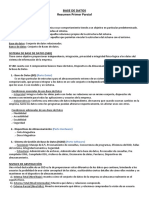 Base de Datos - Resumen (Parcial 1)