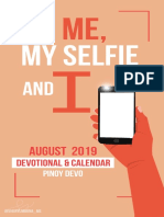 Me, My Selfie and I — August 2019 — Portrait