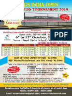 3rd RGS INDIA OPEN Rating Chess Tournament 2019