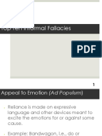 Logic Top Ten Fallacies 13-14.ppt