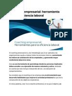 Coaching Empresarial Herramienta Para La Eficiencia Laboral