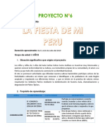 PROYECTO N°6- LA FIESTA DE MI PERU