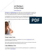 What to Expect During an Eye Exam