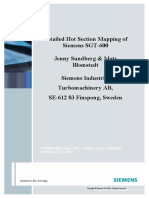 Detailed Hot Section Mapping of Siemens SGT 600