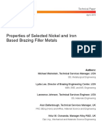 Wall Colmonoy Properties of Selected Ni and Fe Based Brazing Filler Metals