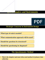 7. Questionnaires and Instruments