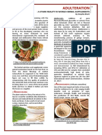Adulteration-A Stark Reality in the World of Herbal Supplements