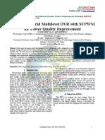 PV Based Hybrid Multilevel DVR With SVPWM for Power Quality Improvement