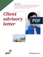 Client Advisory Letter August 2015
