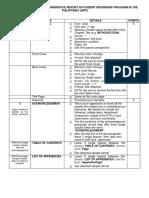 Narrative Report Format for SIPP 2019