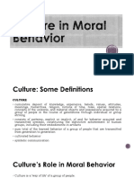 2. Culture in Moral Behavior