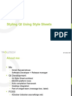 Plugin-Styling Qt Using Style Sheets 484
