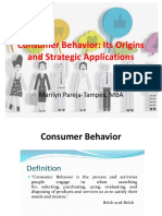 Chapter 1 Consumer Behavior Origins and Strategic Applications