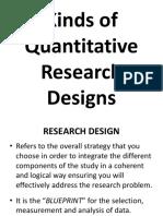 1. Kinds of Quantitative Research Designs