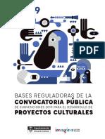 Bases Subvencion Cultura 2019
