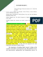 Feminist Writing - Glossary 2