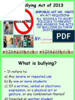 Anti-bullying and Sexual Harassment Final Ppt