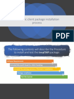 Biometric Client Package Installation Process