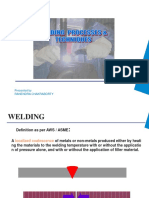 Welding Processes and Technique