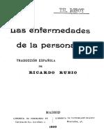 Ribot T H - Las Enfermedades de La Personalidad (1899)