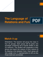 The Language of Relations and Functions
