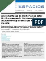 Implementação de Melhorias No Setor Têxtil Empregando Metodologia Lean e Simulação (2017)